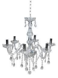 Crystal Chandeliers Tms Clear Crystal Chandelier Lighting 6 Lights Fixture Pendant