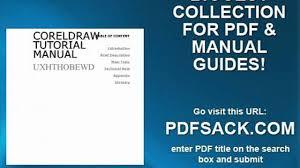 coreldraw tutorial manual video dailymotion
