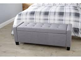 verona large buttoned luxurious ottoman storage box chest fabric