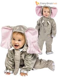 elephant costume for toddlers baby todder animal fancy dress up costume boys girls 6 12 24