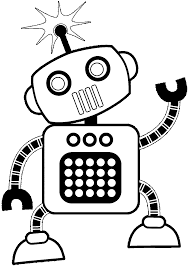 robot coloring page robot coloring page and word tracing coloring