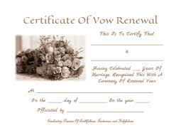 renew wedding vows vow renewal certificate template vow renewal anniversary