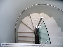 Curved Handrail Delargy U0027 Curved Stainless Steel Handrail Spireco Spiral Stairs