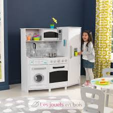 cuisine kidkraft blanche kidkraft 53369 large play kitchen with lights and sounds a wooden