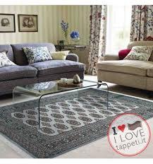 tappeti wissenbach tappeto moderno bokhara blue azzurro setoso stile geometrico a