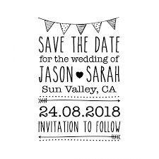 Save The Date Stamp Custom Save The Date Stamp Custom Rubber Stamp Save The Date