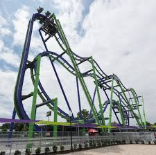 Batman Roller Coaster Six Flags Texas Twisted Mayhem Of The Joker Unleashed At Six Flags Over Texas