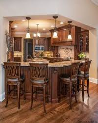 kitchen with cherry cabinets and hickory floors kitchen ideas