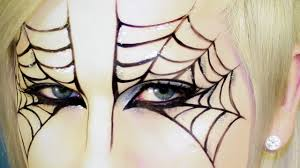 halloween makeup spider web mask tutorial youtube