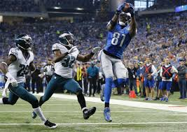 stafford throws 5 td passes lions beat eagles 45 14 boston herald