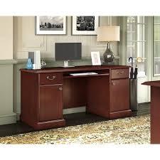 Bush Bennington L Shaped Desk Kathy Ireland Office By Bush Bennington Credenza In Harvest