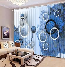 Cool Curtains Modern 3d Curtain Cool Blue Plane Luxury Window Curtains 3d