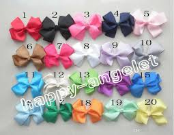 bobbles hair grosgrain ribbon bows flower prong covered hairpin