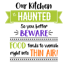 free svg cut file haunted kitchen funny halloween sign u2013 cutecrafting
