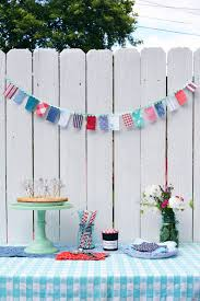 4th of july home decorations diy red white and blue fabric garland