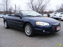 2006 midnight blue pearl chrysler sebring touring convertible