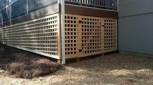 under deck lattice custom lattice with door under a deck how