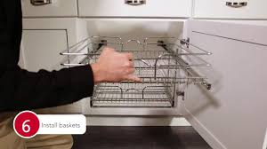 kitchen cabinets baskets 5wb2 chrome pull out baskets for your kitchen cabinet installation
