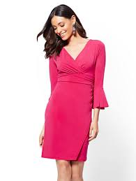 sleeve wrap dress ny c 7th avenue bell sleeve wrap dress
