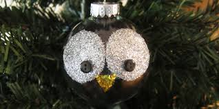 just crafty enough project glitter owl ornament