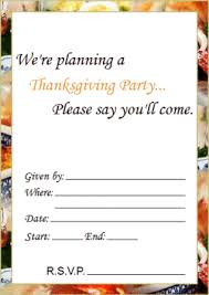 free printable thanksgiving invitations favors at