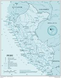 Map Of Uganda Large Detailed Map Of Peru With All Cities Peru Large Detailed