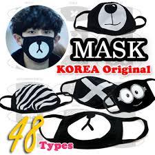 Masker Exo queenneeup exo all members black mask exo mask kpop mask 16 types