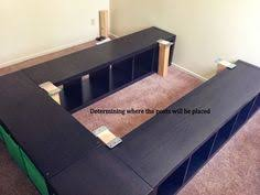 Build Platform Bed Storage Under by Diy Platform Bed Ideas Ikea Hack Platform Beds And Bedrooms