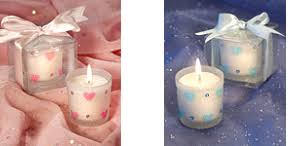 candle baby shower favors baby shower party favor hearts decorated votive candles mc102
