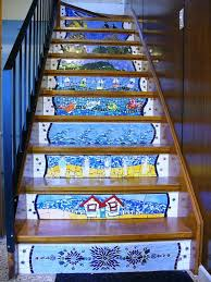 Back Stairs Design 25 Unique Mosaic Stairs Ideas On Pinterest Mexican Tiles