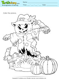 thanksgiving scarecrow coloring sheet turtle diary
