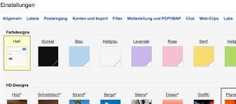 design anpassen gmail hintergrundbild ändern giga