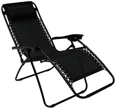 Reclining Patio Chairs Royalcraft Zero Gravity Relaxer Black Amazon Co Uk Garden