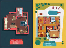 Tv Show Apartment Floor Plans Home Floor Plans Of Famous Tv Shows U2013 Fubiz Media