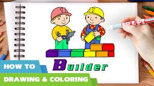 bob builder coloring pages draw bob builder