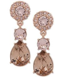 pink earrings givenchy gold tone pink drop earrings jewelry