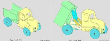 plans to make a toy dump truck woodworking project