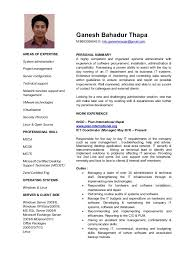 resume for it support ganesh cv