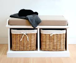Storage Bench With Baskets Nantucket Corner Storage Bench With Basket Storage Benches Corner