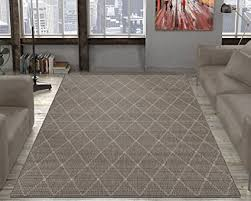 Synthetic Sisal Area Rugs Ottomanson Jardin Collection Contemporary Trellis