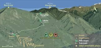 Himalayan Mountains Map Rangthar Hike In The Great Himalayan National Park
