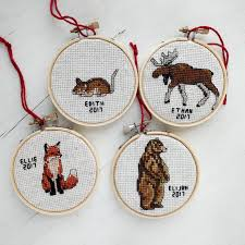 a lively diy cross stitch ornaments