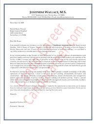cover letter healthcare administrator position letter idea 2018