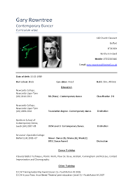 Dance Resume Template For College Performing Arts Resume College Admission
