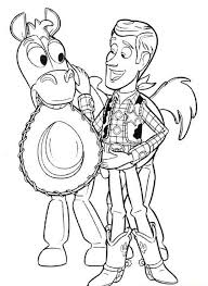 bullseye coloring pages printable toy story cartoon coloring