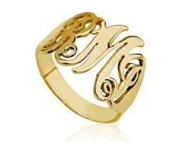 monogram rings gold sandi pointe library of collections