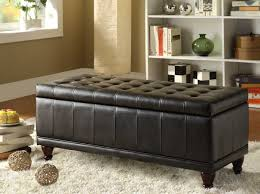 Coffee Table Ottomans With Storage by Homelegance Afton Lift Top Storage Bench Ottoman Brown Bi Cast