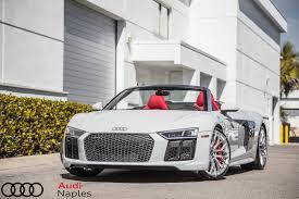 Audi R8 Silver - exclusive look 2017 audi r8 spyder audi naples
