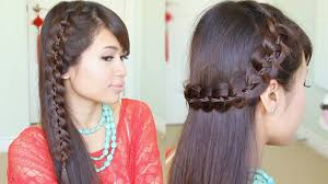 How To Make Hairstyles For Girls by Unique 4 Strand Lace Braid Hairstyle For Long Hair Tutorial Youtube
