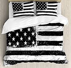 American Flag Duvet Amazon Com United States Queen Size Duvet Cover Set By Ambesonne